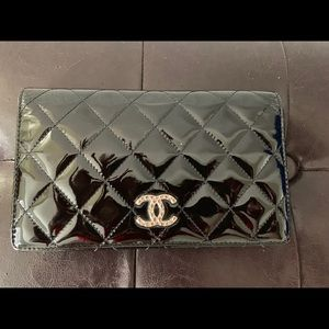 Chanel leather long wallet